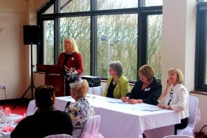 Sharon addressing International Women's Day Conference