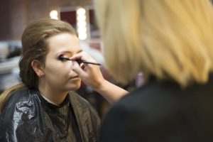 Learners from Chill Out Training Fashion & Photographic Makeup course prepare for their fashion shoot!