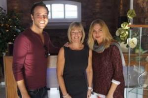 Daniel Koek and Sam Womack with Sharon Carroll